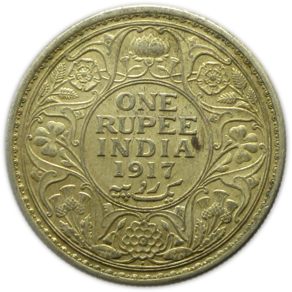 1917 One Rupee King George V Bombay Mint