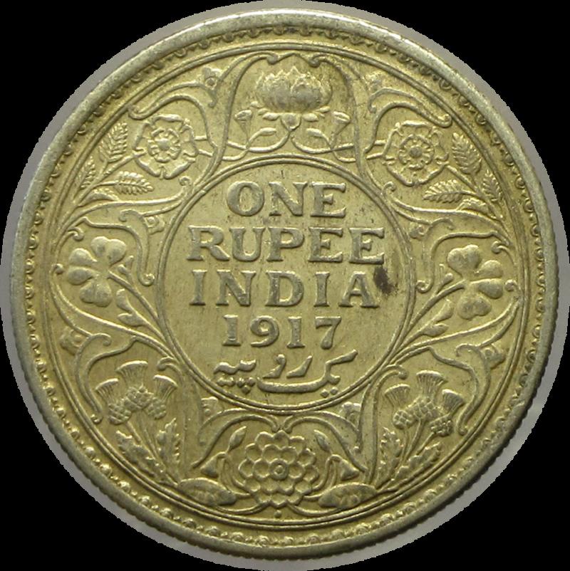 1917 One Rupee King George V Bombay Mint