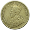 Obverse of One Rupee 1919 Silver Coin King George V Bombay Mint